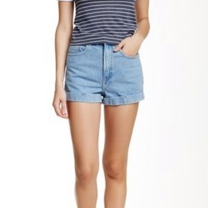 AMERICAN APPAREL high waisted cuff shorts